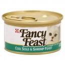 Fancy Feast Wet Cat Food Gourmet Cod, Sole & Shrimp Feast