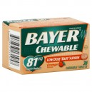 Bayer Children's Aspirin 81 mg Orange Flavor Chewable Tablets