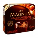 Magnum Ice Cream Bars Double Chocolate w/Belgian Milk Chocolate - 3 ct