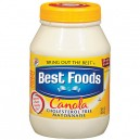 Best Foods/Hellmann's Mayonnaise Real with Canola Cholesterol Free