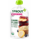 Sprout Organic Baby Food Stage 2 Banana Plum Blueberry Quinoa