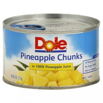 Dole Pineapple Chunks in 100% Pineapple Juice
