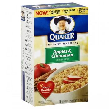 Quaker Instant Oatmeal Apple & Cinnamon - 10 ct