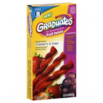 Gerber Graduates for Preschoolers Fruit Twists Strawberry & Grape - 5 ct