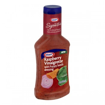 Kraft Salad Dressing Vinaigrette Raspberry with Poppy Seeds