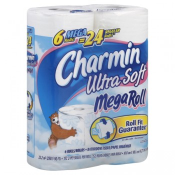 Charmin Ultra Soft Bath Tissue Mega Roll 2-Ply Unscented