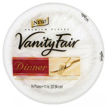 Vanity Fair Premium Plates Dinner 11 Inch