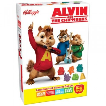 Kellogg's Fruit Snacks Alvin & The Chipmunks Assorted Fruit Flavors - 10ct