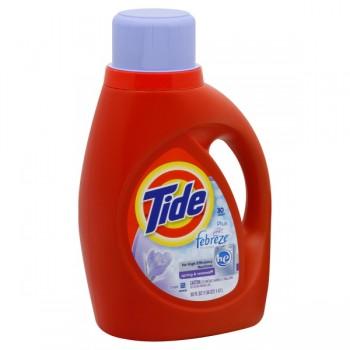 Tide Liquid Laundry Detergent HE Plus Febreze Spring & Renewal