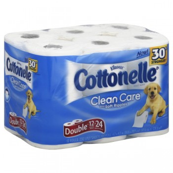 Cottonelle Bath Tissue Double Roll 1-Ply