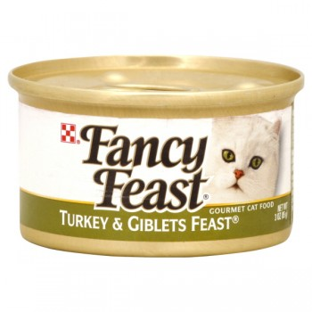 Fancy Feast Wet Cat Food Gourmet Turkey & Giblets Feast