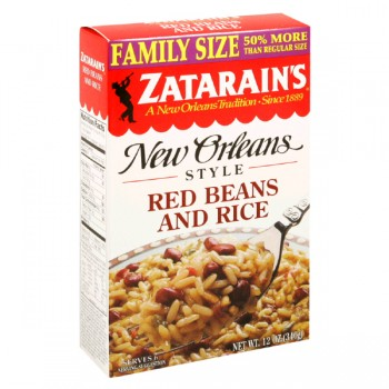 Zatarain's New Orleans Style Rice with Beans Red Family Size