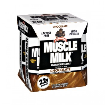 Muscle Milk Chocolate Nutritional Shake High Protein RTD - 4 pk