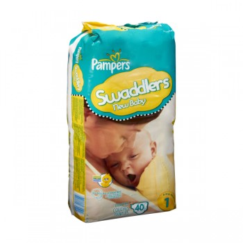 Pampers Swaddlers New Baby Diapers Size 1 Both - 8-14 lbs