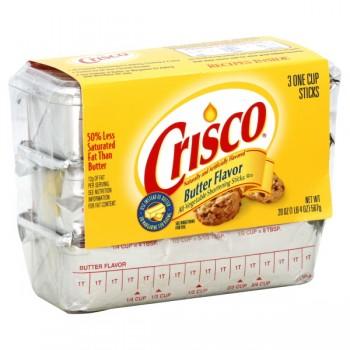 Crisco All-Vegetable Vegetable Shortening Sticks Butter - 3 ct