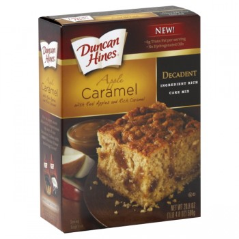 Duncan Hines Decadent Ingredient Rich Cake Mix Apple Caramel