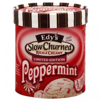Dreyer's/Edy's Limited Edition Slow Churned Rich/Creamy Ice Cream Peppermint Light
