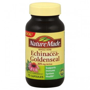 Nature Made Echinacea Goldenseal Whole Herb 305 mg Active Capsules