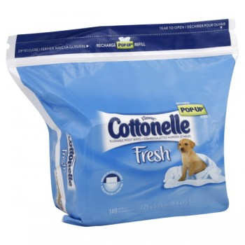 Cottonelle Fresh Moist Wipes Flushable Pop-Up Refill
