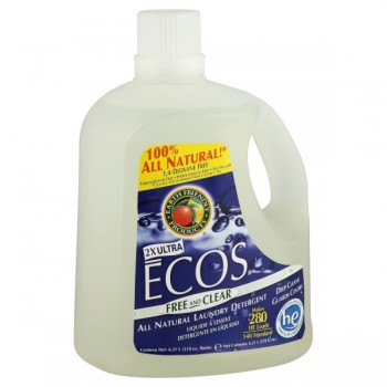 Earth Friendly Ecos 2X Ultra Liquid Laundry Detergent HE Free & Clear