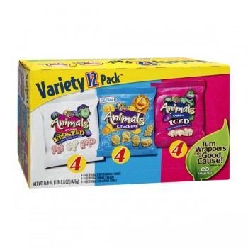 Keebler Cookies Animal Variety Snack Packs - 12 ct