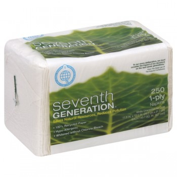 Seventh Generation Lunch Napkins White 1-Ply