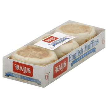 Bay's English Muffins Sourdough - 6 ct Refrigerated
