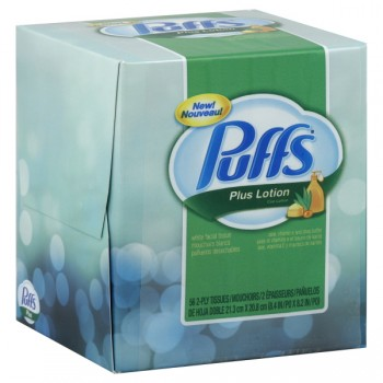 Puffs Plus Lotion Facial Tissue 2-Ply White