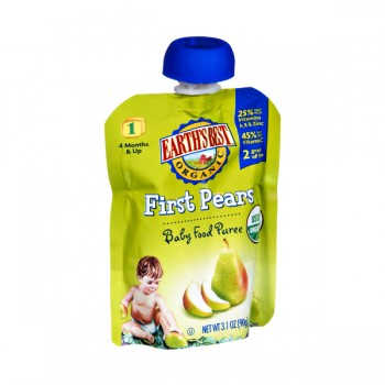 Earth's Best Stage 1 Baby Food First Pears Organic