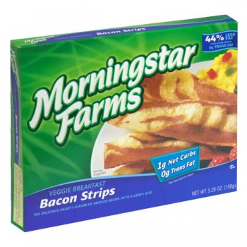 MorningStar Farms Meatless Veggie Breakfast Bacon Strips - aprx 18 ct
