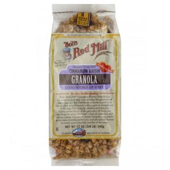 Bob's Red Mill Granola Original Whole Grain Cinnamon Raisin All Natural