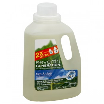 Seventh Generation 2X Concentrate Liquid Laundry Detergent HE Free & Clear