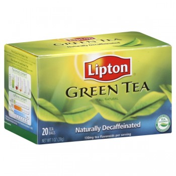 Lipton Green Tea Bags Decaffeinated 100% Natural