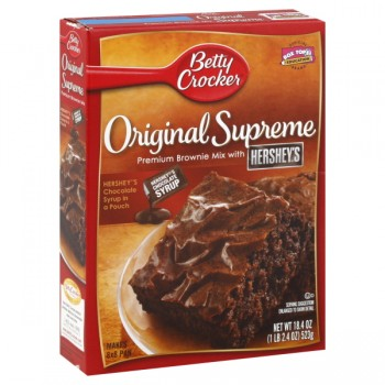 Betty Crocker Supreme Brownie Mix Original with Syrup Pouch