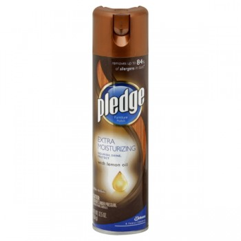Pledge Extra Moisturizing Furniture Polish Lemon Aerosol Spray