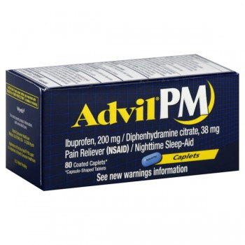 Advil PM Ibuprofen 200 mg Coated Caplets