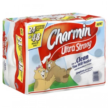 Charmin Ultra Strong Bath Tissue Double Roll 2-Ply Unscented