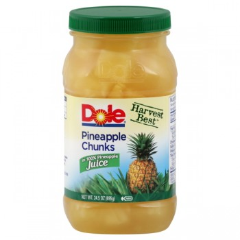 Dole Harvest Best Pineapple Chunks in 100% Pineapple Juice