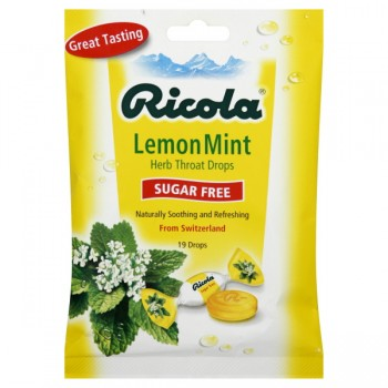 Ricola Throat Drops Sugar Free Lemon Mint