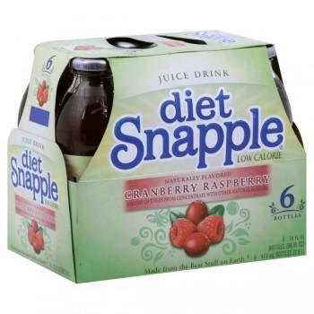 Snapple Cranberry Raspberry Juice Drink Diet - 6 pk