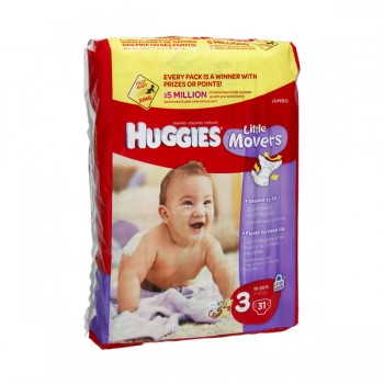 Huggies Little Movers Diapers Size 3 Both Jumbo Pack - 16-28 lbs