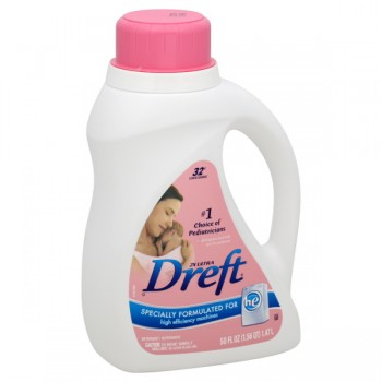 Dreft 2X Ultra Concentrated Liquid Laundry Detergent HE