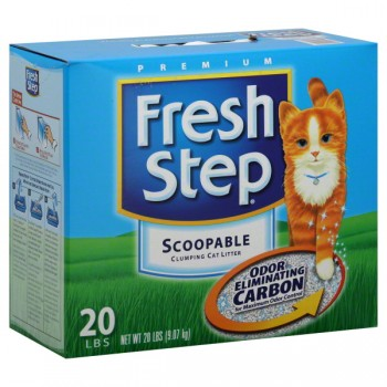 Fresh Step Scoopable Cat Litter Odor Shield Scented with Carbon