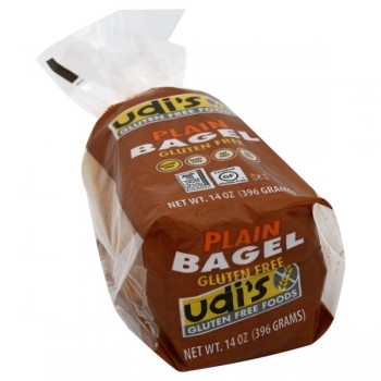 Udi's Gluten Free Foods Bagels Plain - 4 ct Frozen