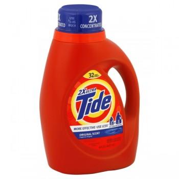 Tide 2X Ultra Concentrated Liquid Laundry Detergent Original Scent