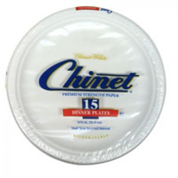 Chinet Dinner Plates Paper Classic White 10 3/8 Inch