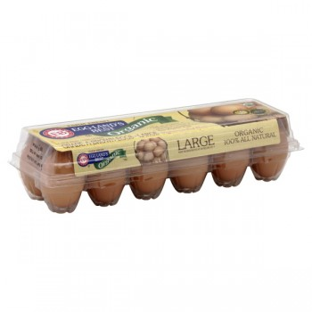 Eggland's Best Eggs Grade AA Large Brown Cage Free Organic Vegetarian Hens