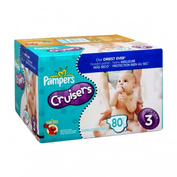Pampers Custom Fit Cruisers Diapers Size 3 Both Big Pack - 16-28 lbs