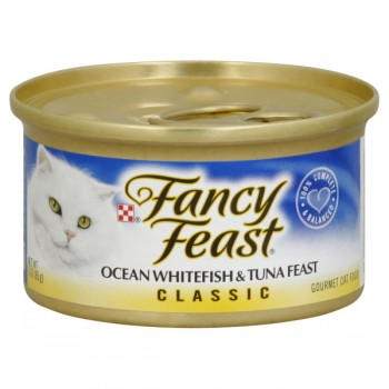 Fancy Feast Wet Cat Food Classic Whitefish & Tuna Feast