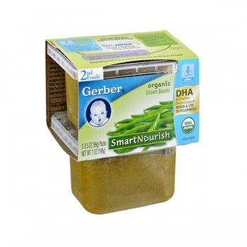 Gerber 2nd Foods SmartNourish DHA Green Beans Organic - 2 pk